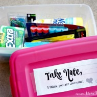 Teacher's Treat Supply Box + Free Printable