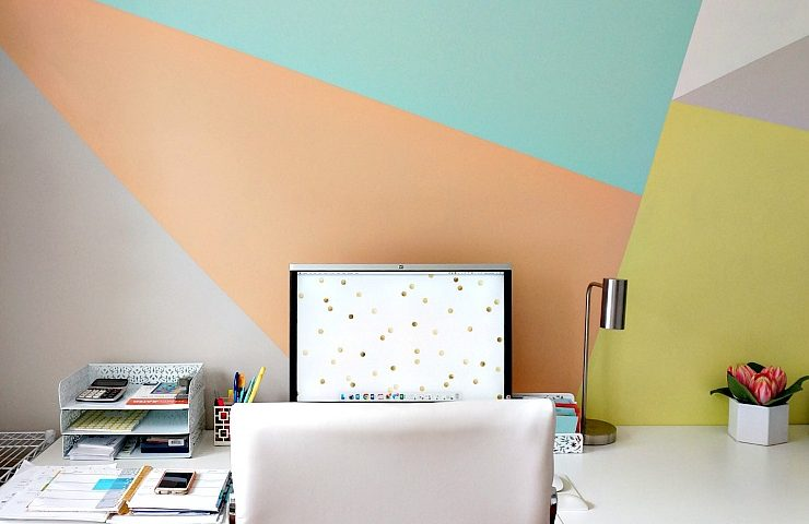 Creating an artfully modern DIY accent wall is a breeze with the right tools, some fabulous colors and a little whimsy.