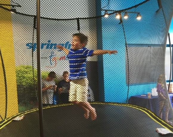 Bouncy, trouncy, flouncy, pouncy, fun, fun, fun, fun, fun. Check out the new Springfree Trampoline store in South Charlotte