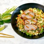 Cauliflower Fried Rice with Black Pepper Pork