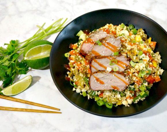 Cauliflower Fried Rice with Black Pepper Pork