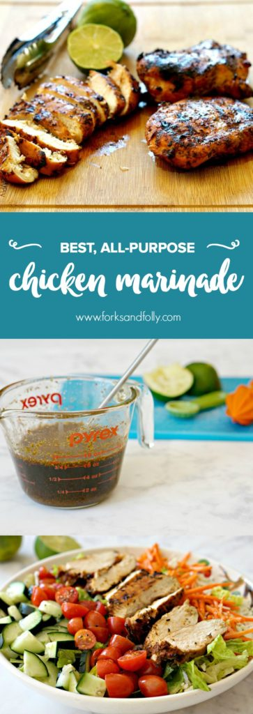 "With an easy recipe like my ""Best All-Purpose Chicken Marinade"", you'll never need to buy bottled marinade again. This is a great marinade for chicken, but it's great with pork and beef, too!"