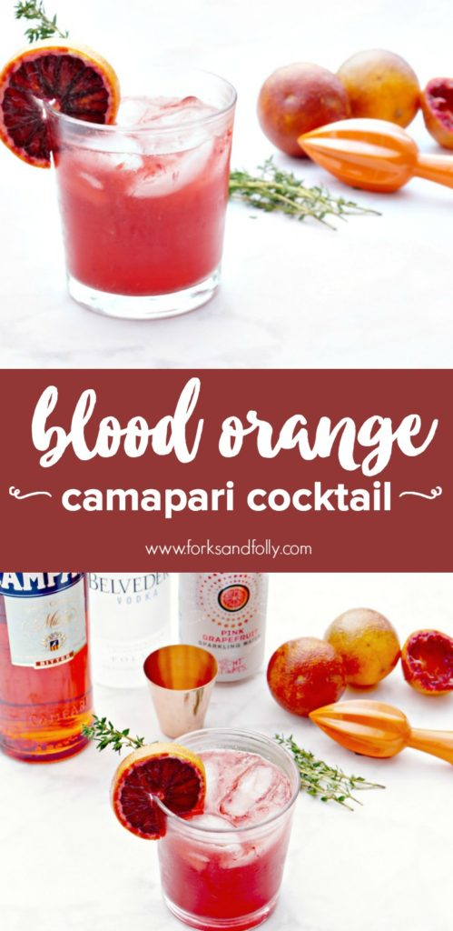 Looking for a new cocktail to mix up during the winter and spring season? Make use of in-season blood oranges and whip up this Blood Orange Campari Cocktail. Happy hour playdate anyone?