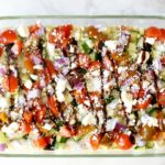 Greek Seven Layer Dip with Homemade Hummus
