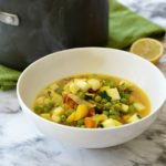 Lemon & Turmeric Veggie Soup with Quinoa