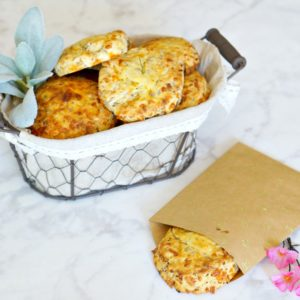 "Nothing will put a little ""Spring"" in your step like these easy Sausage Cheddar Biscuits. Perfect for a grab and go breakfast and fancy enough to add to your Easter Dinner menu."