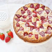 Strawberry White Chocolate Cake
