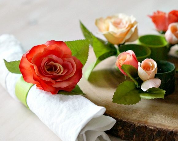 DIY Floral Napkin Rings for Spring Entertaining on a Budget