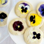 Lavender Shortbread Cookies with Edible Flowers: #52WeeksofSweets, Week 6