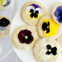 Lavender Shortbread Cookies with Edible Flowers
