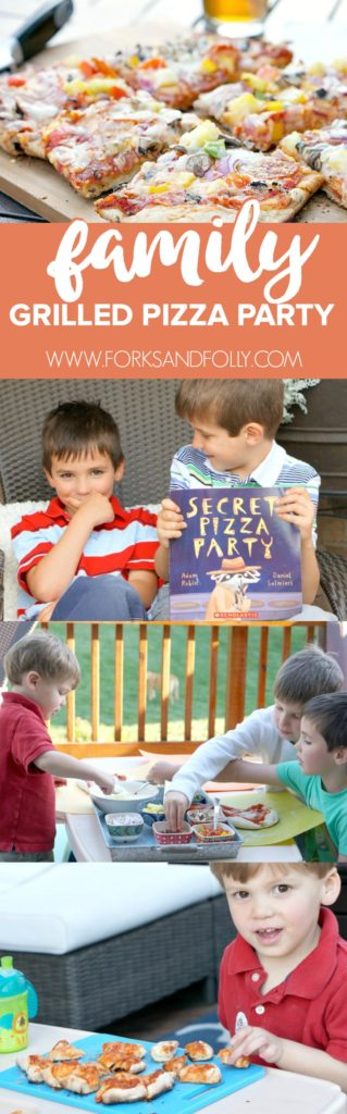 "We're in love with Adam Rubin's children's book, ""Secret Pizza Party"".  Just about as much as we love pizza.  Celebrate both by creating your own family night with this grilled pizza recipe and party!"