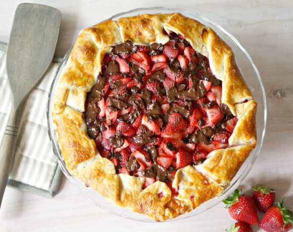 Strawberry Galette with Dark Chocolate: #52WeeksofSweets, Week 13