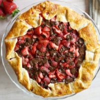 Strawberry Galette with Dark Chocolate