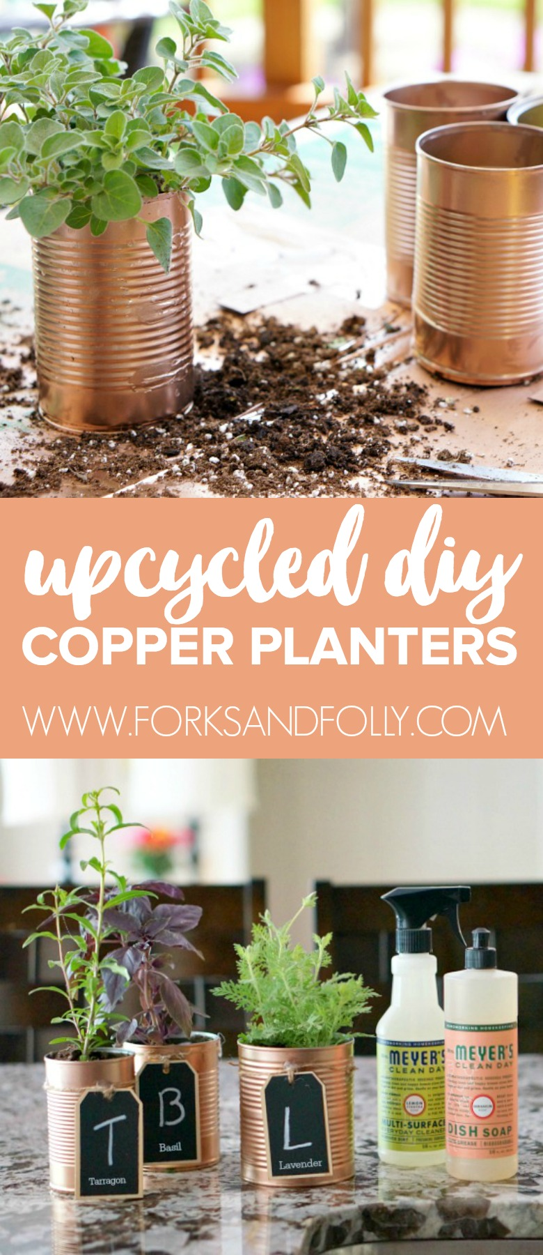 Diy Copper Herb Planters For Your Kitchen Forks And Folly
