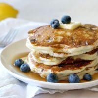 Lemon Ricotta Pancakes with Blueberries