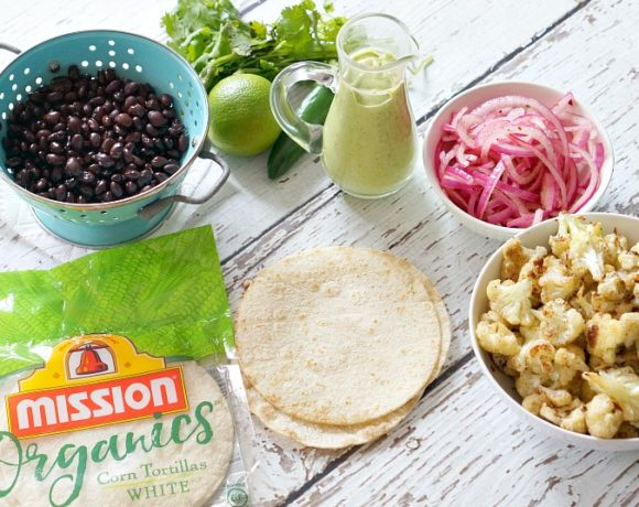 Roasted Cauliflower Black Bean Tacos: Vegan & GF