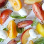 Ombre Summer Salad with Heirloom Tomatoes and Nectarines