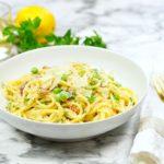 One Pot Pasta Carbonara + Recipe Video