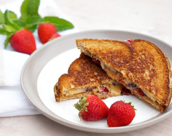 Bingo and Rolly's Peanut Butter & Jelly Grilled Cheese