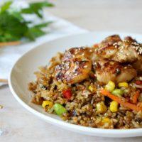Chicken Teriyaki with Veggie Fried Rice