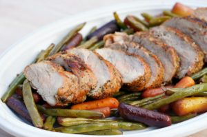 Grilled Pork Tenderloin and Foil Packet Veggies