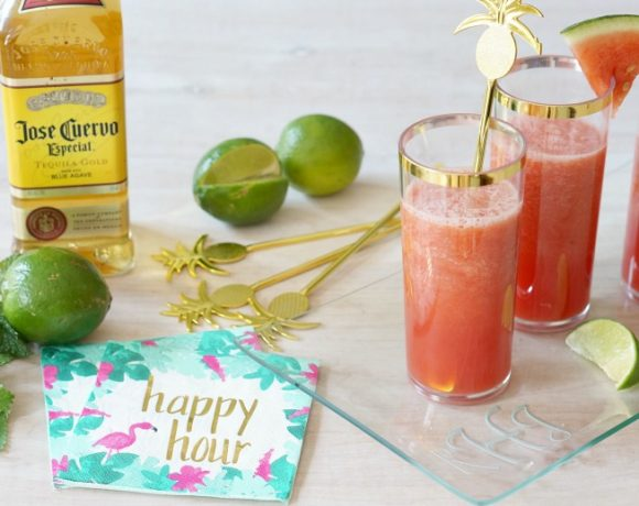 Four-Ingredient Watermelon Margaritas