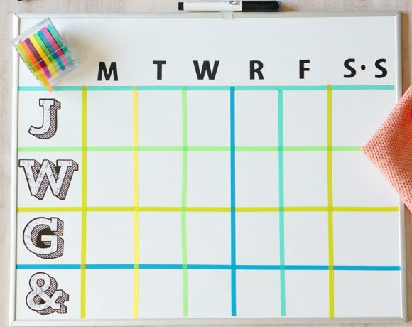 DIY Dry Erase Board Weekly Family Activity Planner