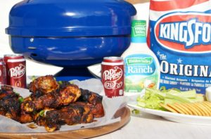 Tailgating before some college football this season?  You'll have fans of your own when you cook up these Grilled Sweet & Spicy Dr Pepper Chicken Wings.  Touchdown indeed.