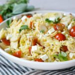 Orzo Salad with Pan Fried Hearts of Palm & Artichoke Hearts