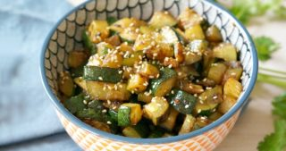 You know that hibachi-style zucchini you get at Japanese restaurants? That's my inspiration behind this Sesame Ginger Zucchini. It's the perfect side dish. Especially in late summer!