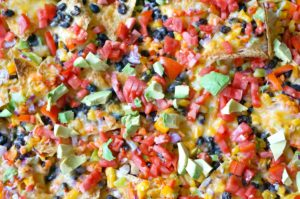 Veggie & Black Bean Sheet Pan Nachos