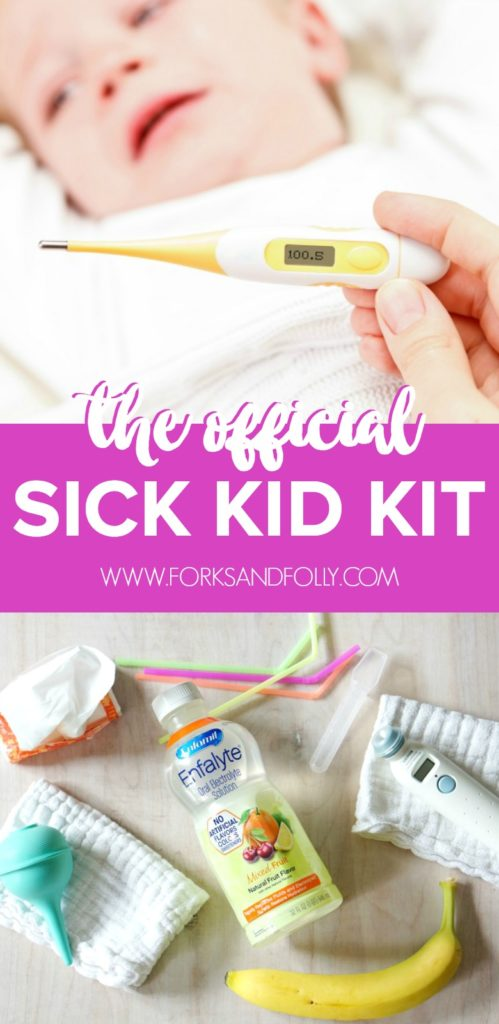 The back-to-school blues can take a turn for the worse with sick kids!  Be prepared for germs and viruses with this Official Sick Kid Kit, perfect for preschoolers during the fall season!
