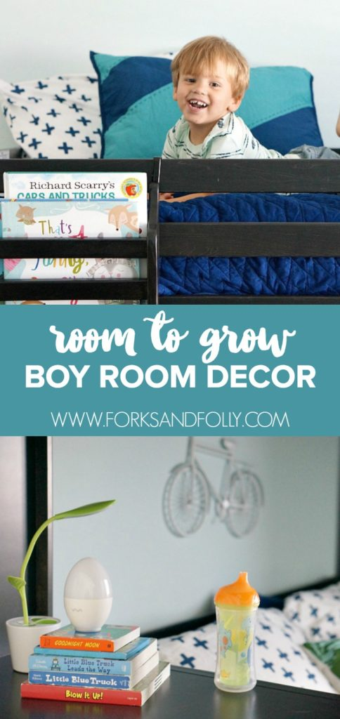 Ditch the toddler bed for a room that will grow with your little one.  Check out these tips for creating long lasting boys rooms, even in the smallest of spaces.