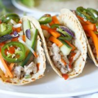 Banh Mi Style Pork Tacos
