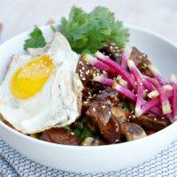 Beef & Mushroom Korean Grain Bowl