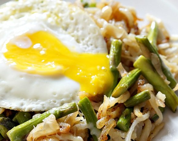 Asparagus & Egg Hash: Cooking with Leftovers