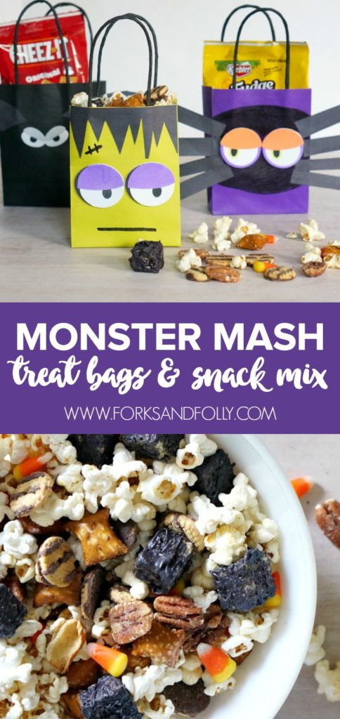 Monster Mash Treat Bags Amp Snack Mix Forks And Folly
