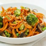 Sweet Potato Zoodle Stirfry + Video How-To