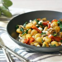 Pan-Fried Gnocchi with Sundried Tomatoes and Spinach