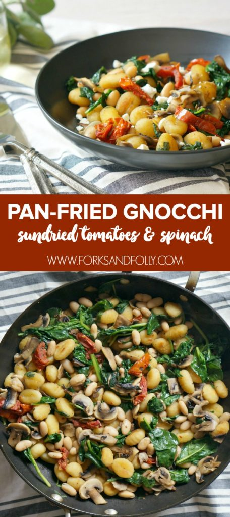 This Pan-Fried Gnocchi with Sundried Tomatoes and Spinach deserves to be in the weekly rotation! Our recipe uses mostly pantry ingredients and takes less than 30 minutes.