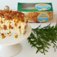 Cream Cheese Pound Cake with Bacon Sprinkles