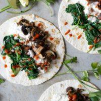 Spinach & Ricotta Wild Mushroom Tacos