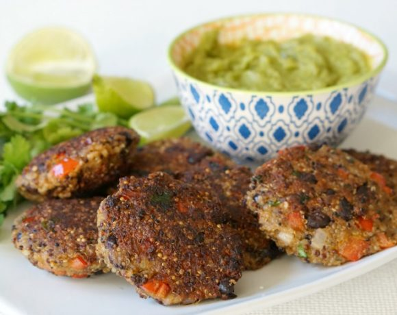 Our recipe for Freezer-Friendly Homemade Black Bean Quinoa Patties helps make your resolutions just a tad easier.  Loaded with protein and lightly fried to perfection! Serve with an avocado crema for a full meal.