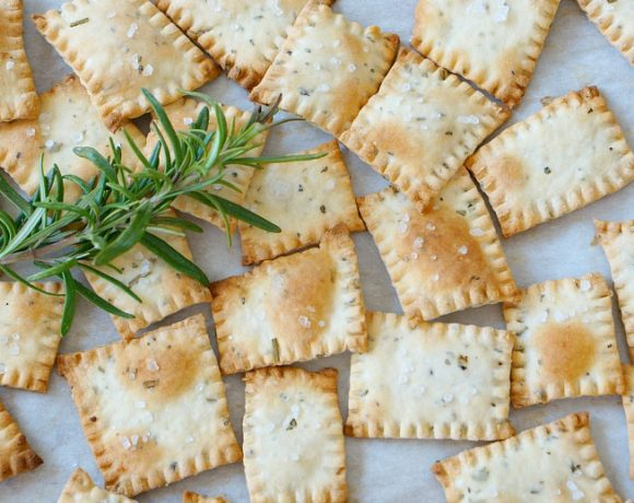 Herb and Olive Oil Homemade Crackers