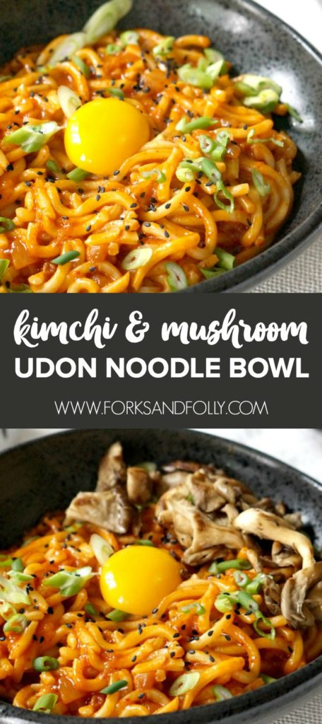 'Life-affirming' may be a bold statement for a bowl of noodles, but once you try this Kimchi Udon Noodle Bowl recipe you'll realize... it's no overstatement!