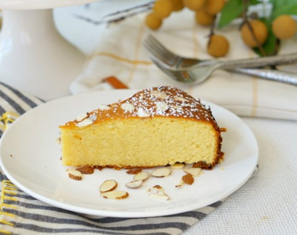 Pichuberry Cake with Almonds is a fun way to try a new ingredient.  Pichuberries are the newest superfood, and are the perfect sweet and tart addition to this gluten-free almond cake.  #52WeeksofSweets #Week34