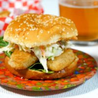 Spicy Beer Battered Fish Burger