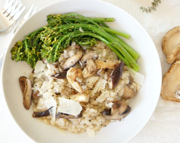 Truffled Mushroom Risotto for Valentines