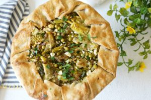 Our Savory Spring Vegetable Galette is rustic, yet elegant. Perfect for Easter. Mix and match your favorite veggies in this savory tart recipe.
