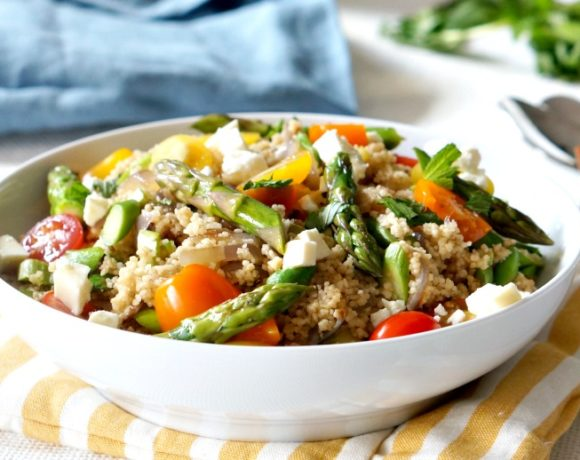 Colorful Spring Asparagus Couscous Salad